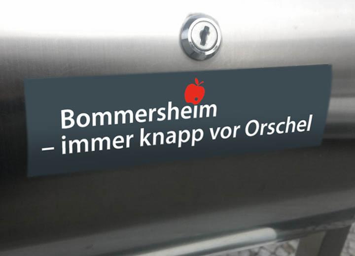 Bomm-Aufkleb