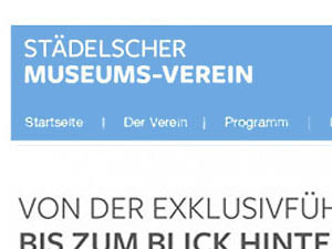 Städelverein, website